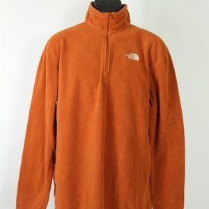 The North Face 1/4 zip fleece pullover orange